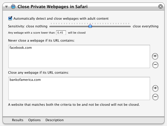 Close Private Webpages in Safari Screenshot
